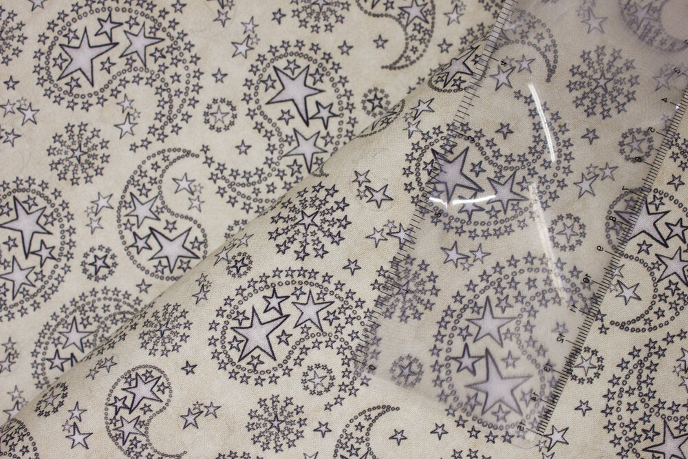 Silver Star Paisley on Cream:  All American by Dan Morris for Quilting Treasures