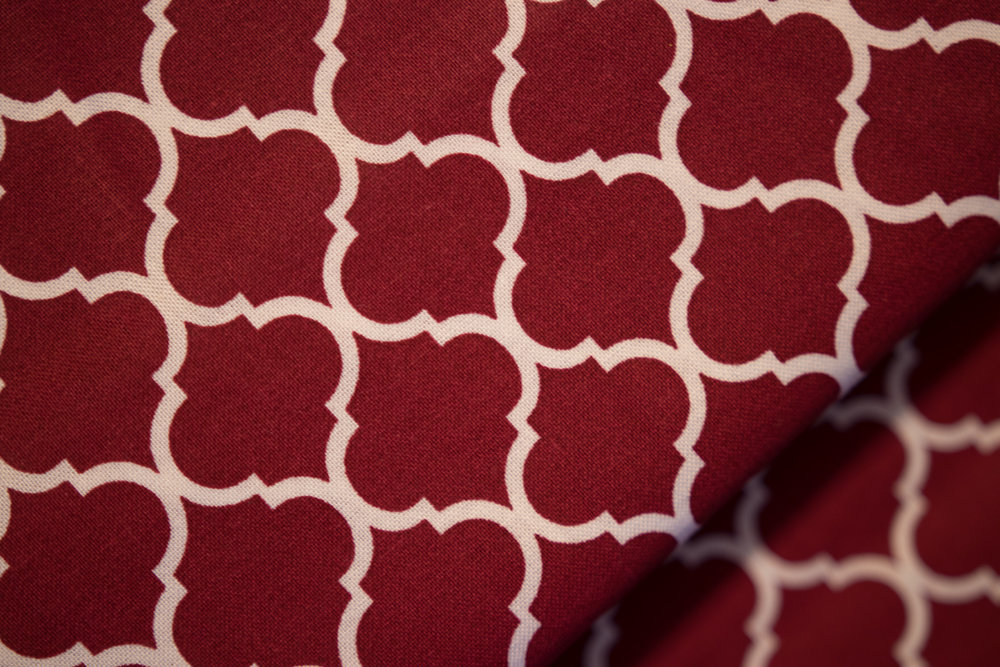 Brick Red Quatrefoil