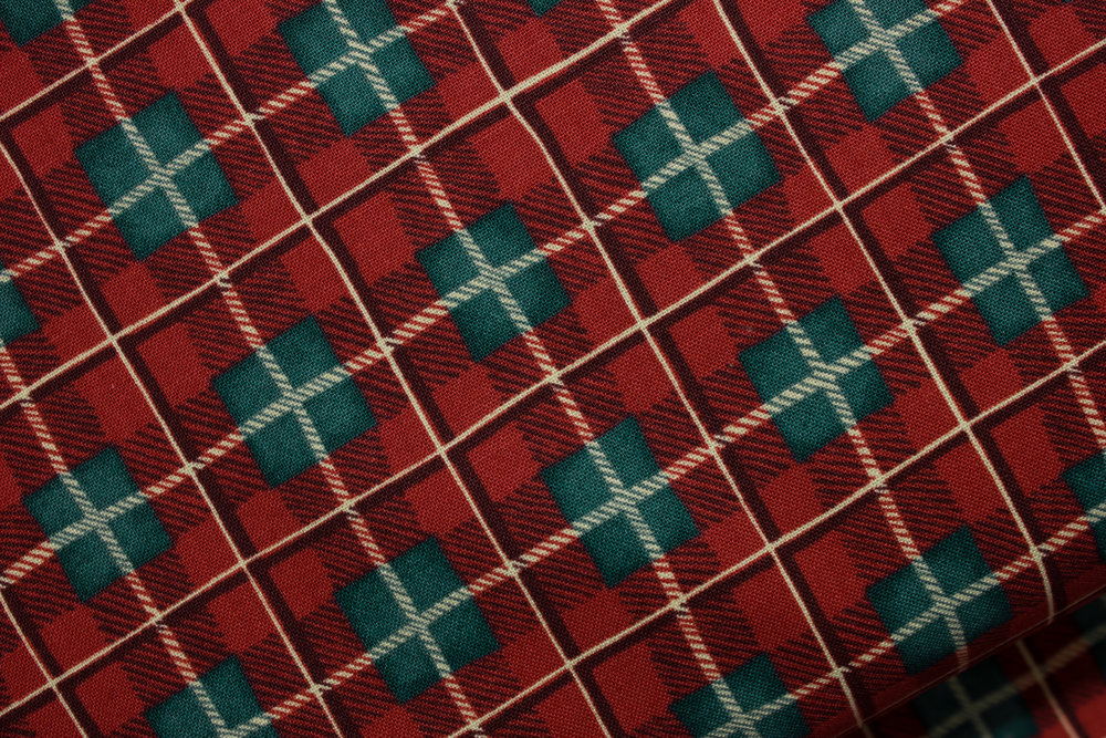 Fall Retreat in Red Plaid for Fabri-Quilt