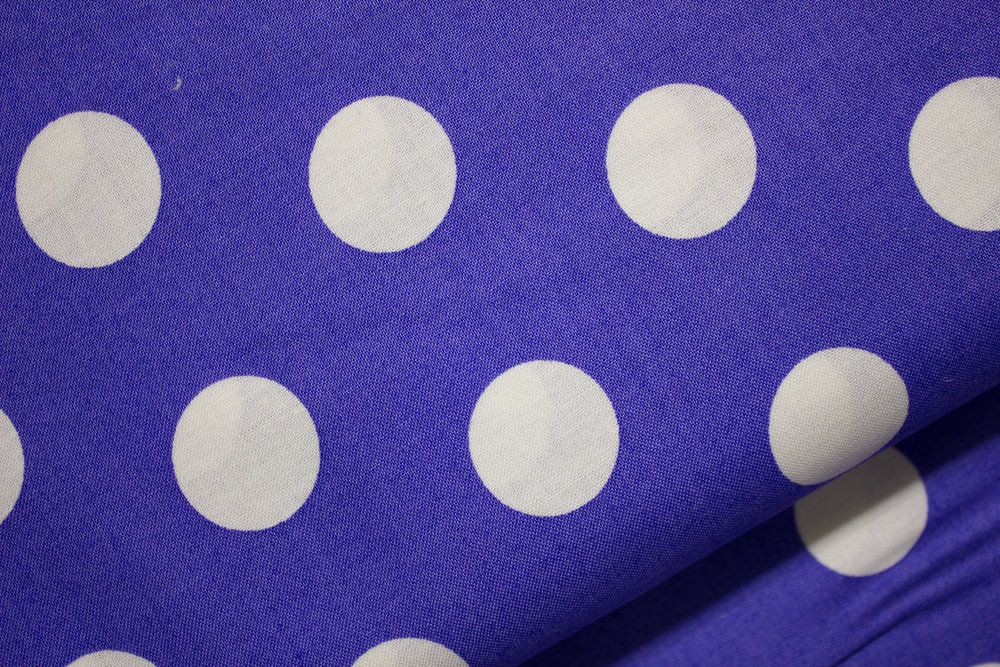 Large White Polka Dots on a background of Purple for Andover Fabrics