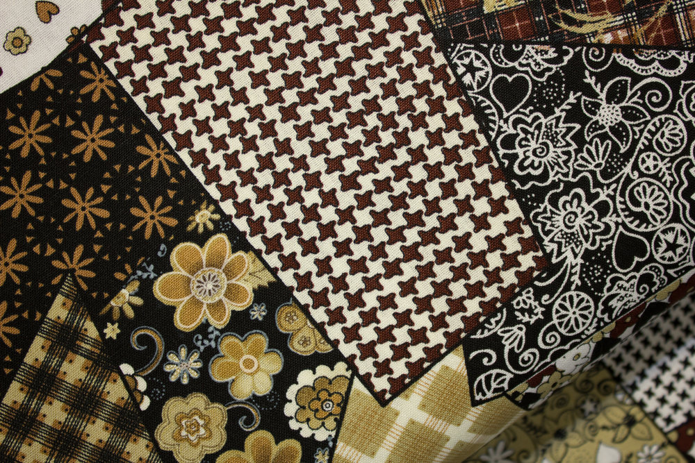 Brown Scrappy Patchwork by Richlin Fabrics