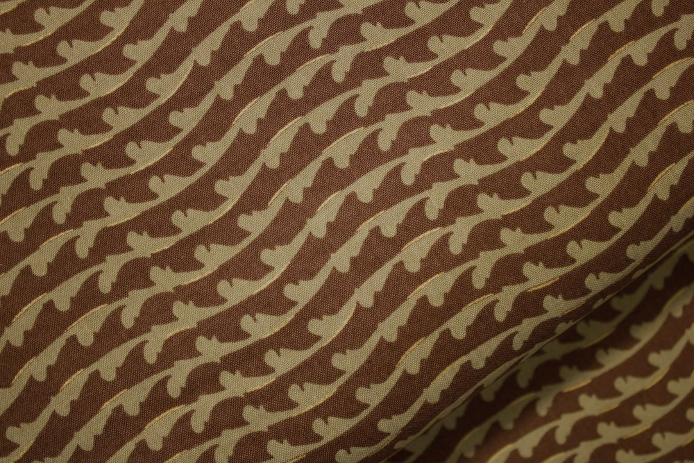 Fairmount Park - Taupe Waves on Brown - by Lonnie Rossi for Andover Fabrics