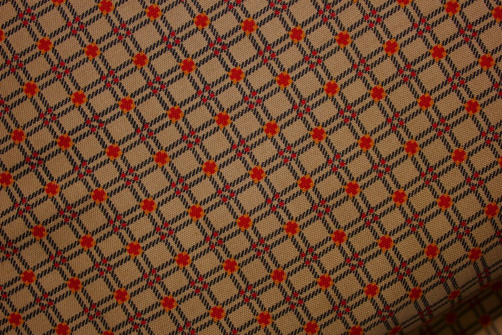 Cat in the Manor - Brown Plaid - by Mary Koval for Windham Fabrics