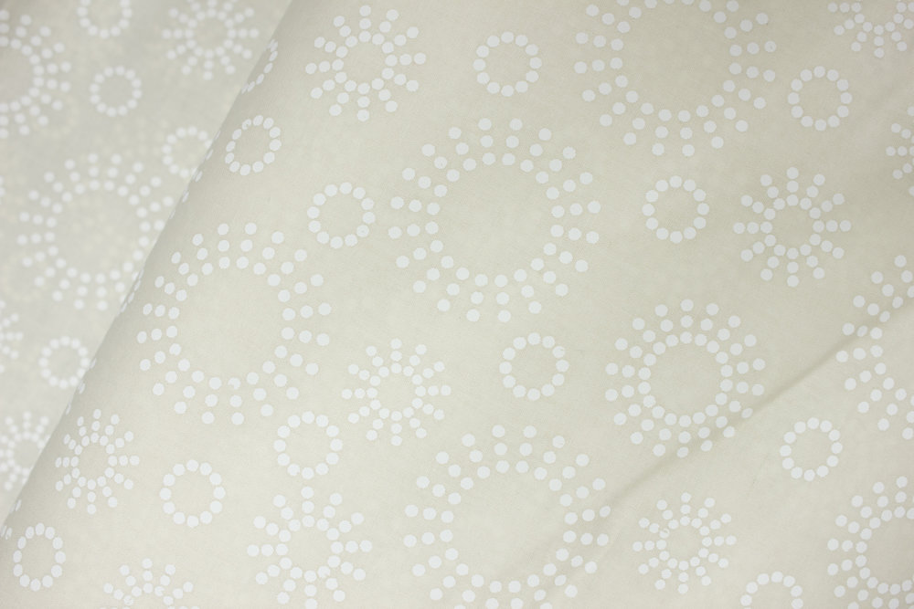 White Fireworks and Circles on Off-White - 48501