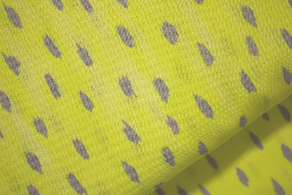 Yellow with Gray Spots by Windham Prints