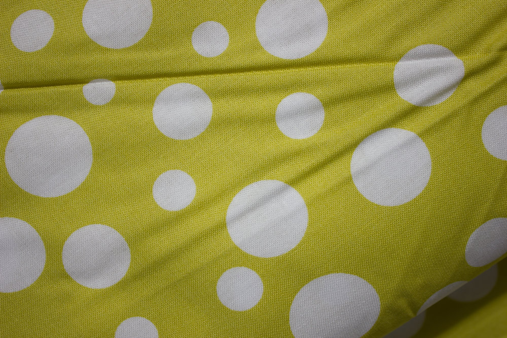 Lolli Dot - Yellow with White Random Dots by Michael Miller