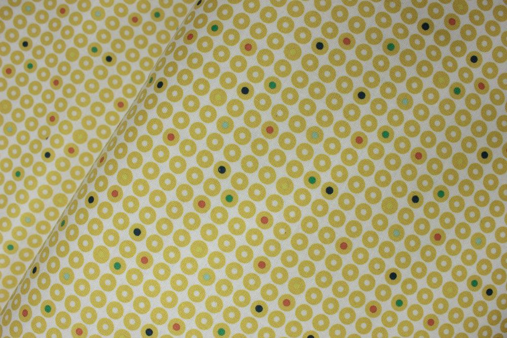 Yellow Donuts on White: Grafic by Latitah Saafir Studio for Hoffman