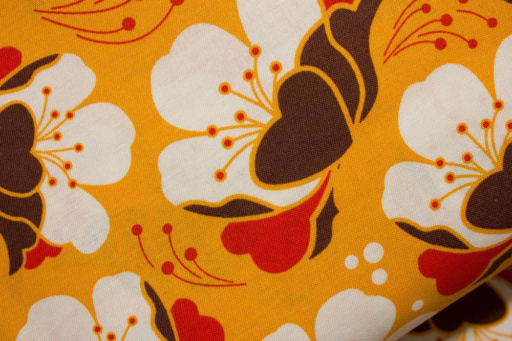Orange Background with White Magnolia or Gardenia Flowers: Gardenia for Michael Miller