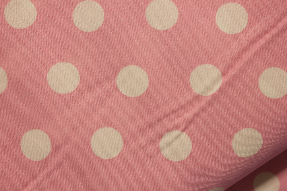 Pink with Large White Polka Dots: Springs Creative