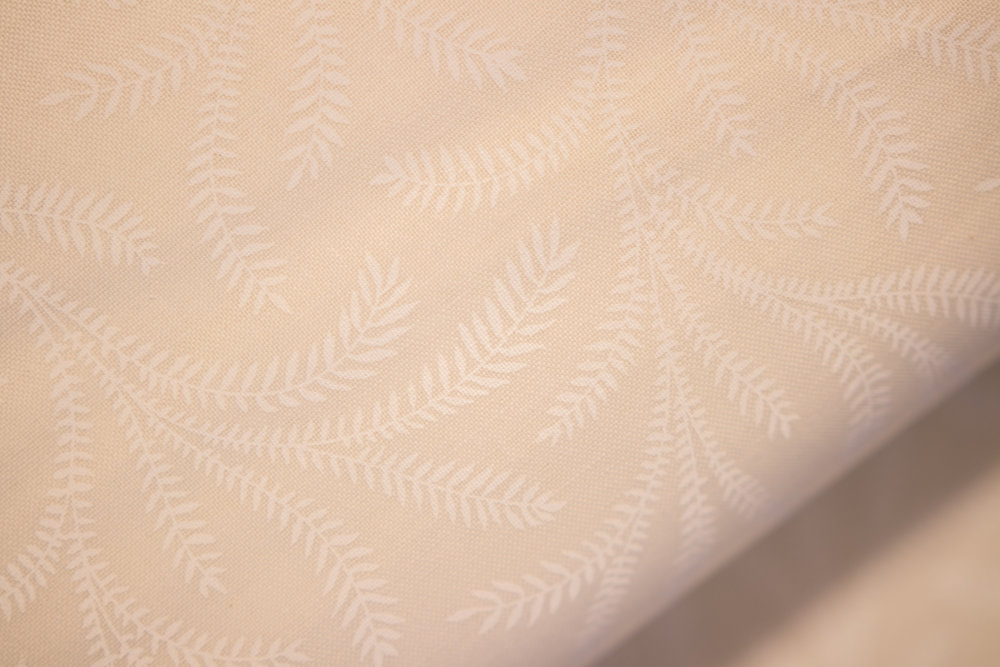 Cream Background with White Flowing Ferns