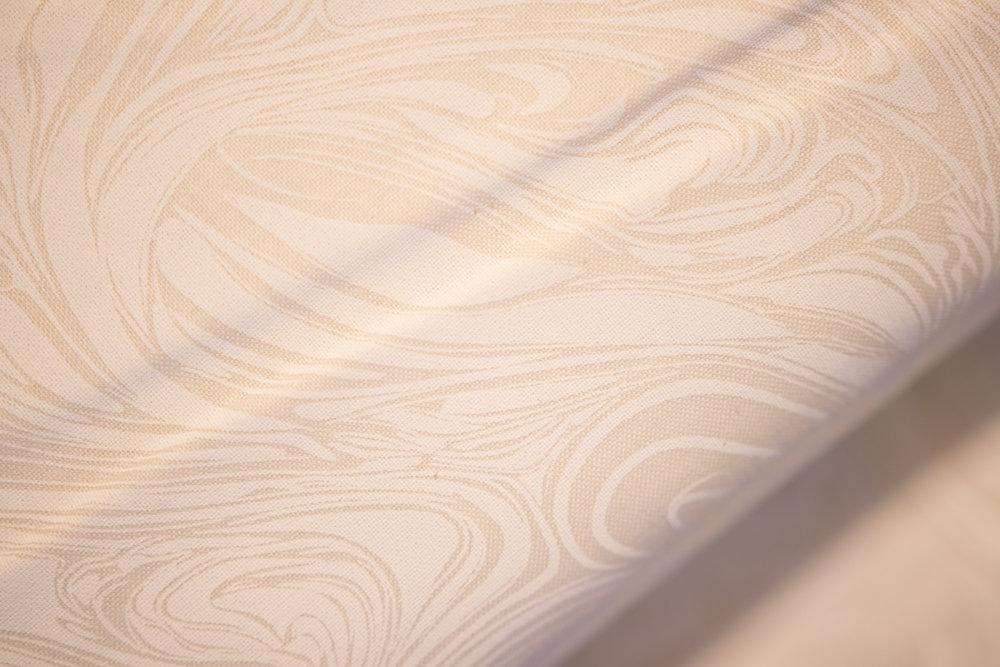 Cream Background with White Swirling Marbling Blender