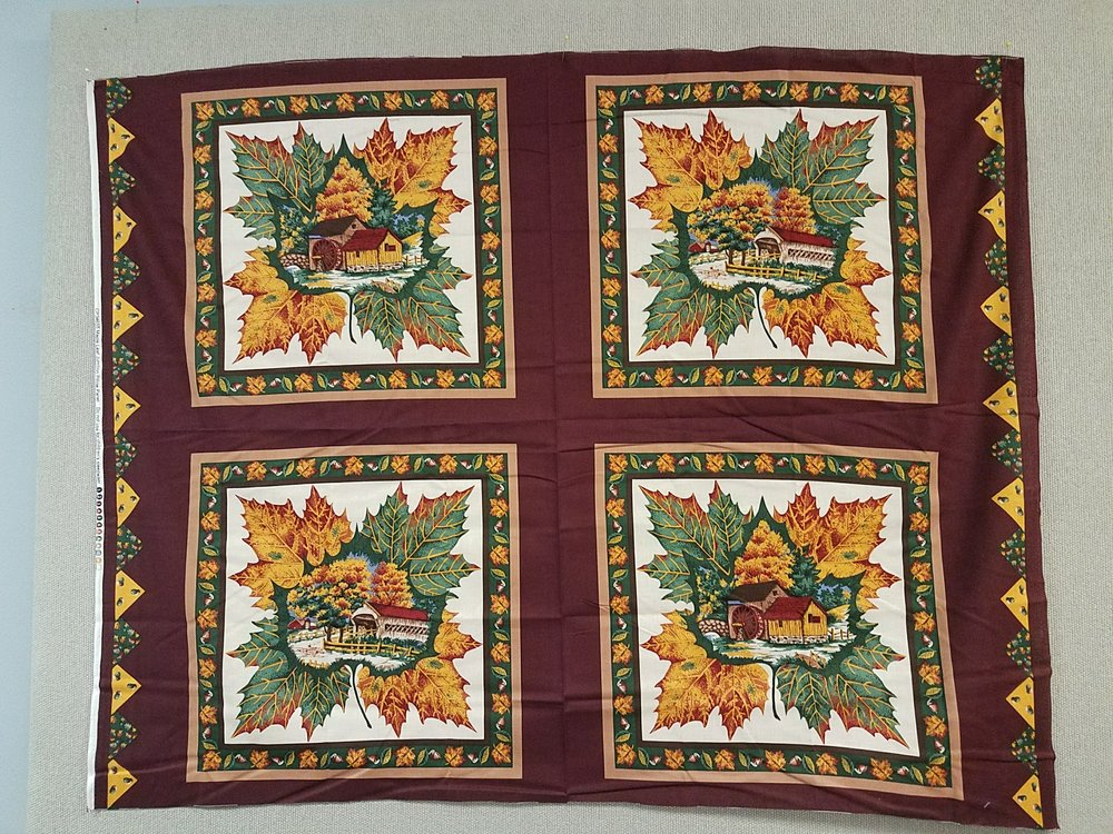 Maple Leaf Junction Pillow Panel