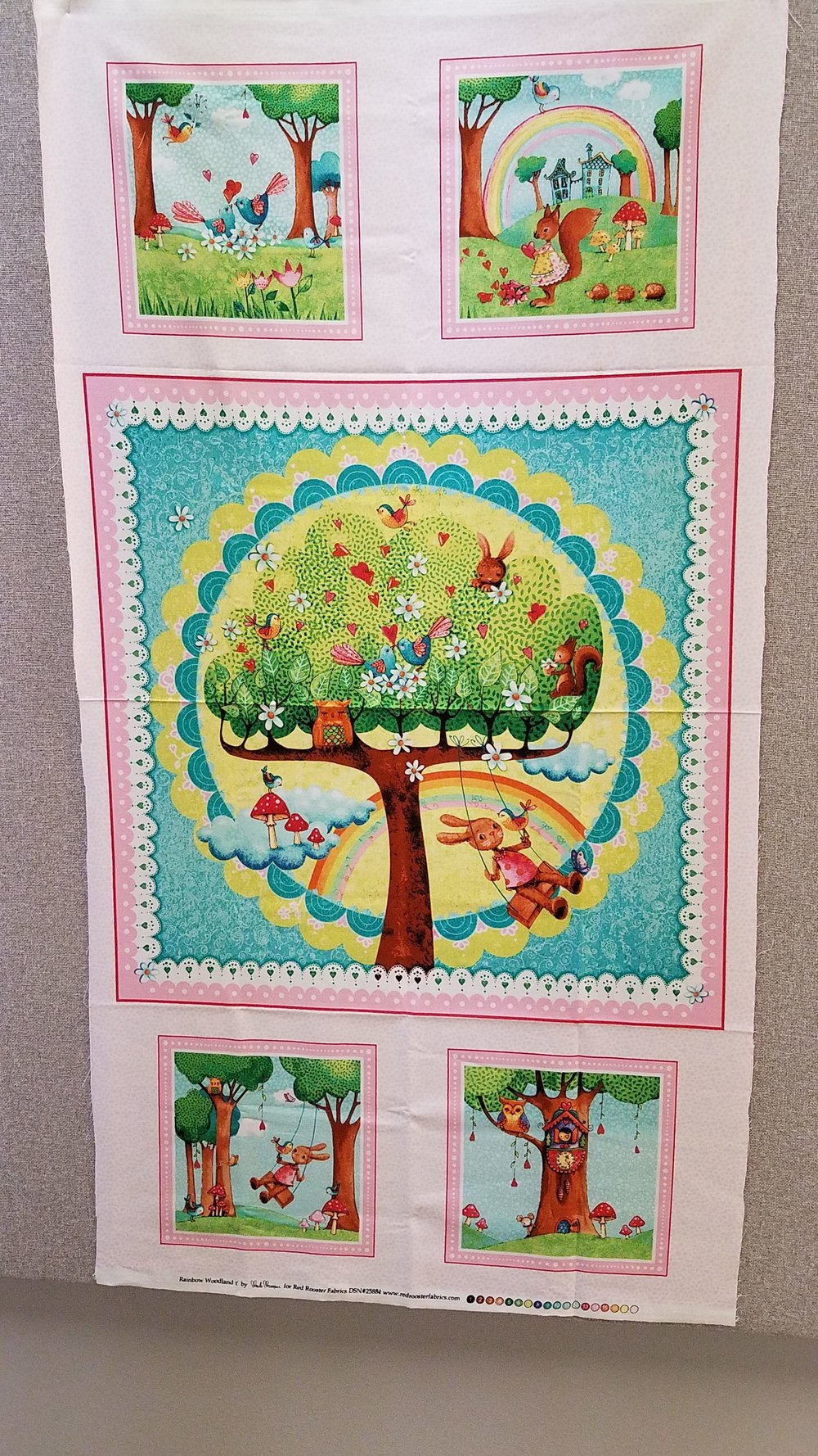 Rainbow Woodland Quilt Panel for Red Rooster Fabrics