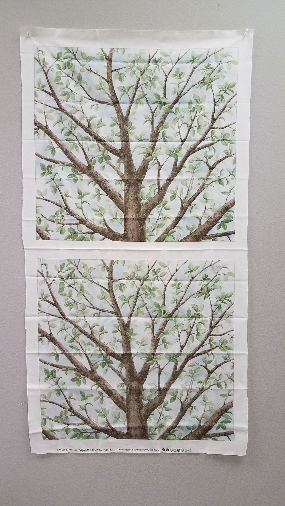 Tree Pillow Panel - set of 2 - from Elizabeth's Studio