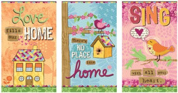 No Place Like Home Quilt Panel by Red Rooster Fabrics