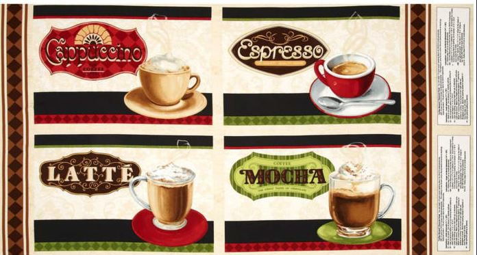 Coffee Moments Placemat or Pillow Panel by Lisa Audit for Wilmington Prints