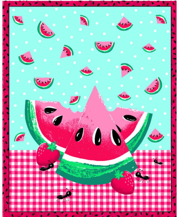 Watermelon Picnic Panel by Fabric Traditions