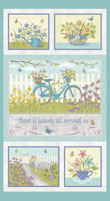 Beauty All Around Us Panel  (Butterfly Garden) by Cheryl Haynes for Benartex