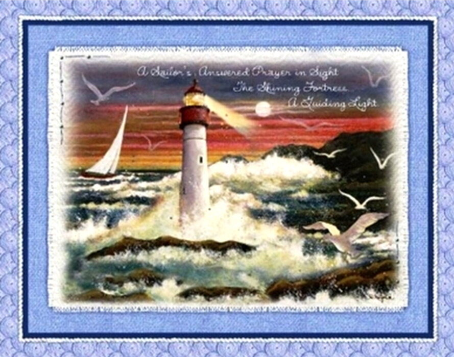 GONE -  A Sailor's Answered Prayer Panel by Concord Prints