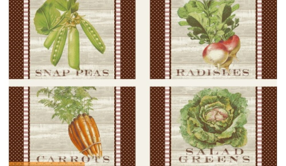 Market Place Pillow Panels featuring Foods by Windham Fabrics