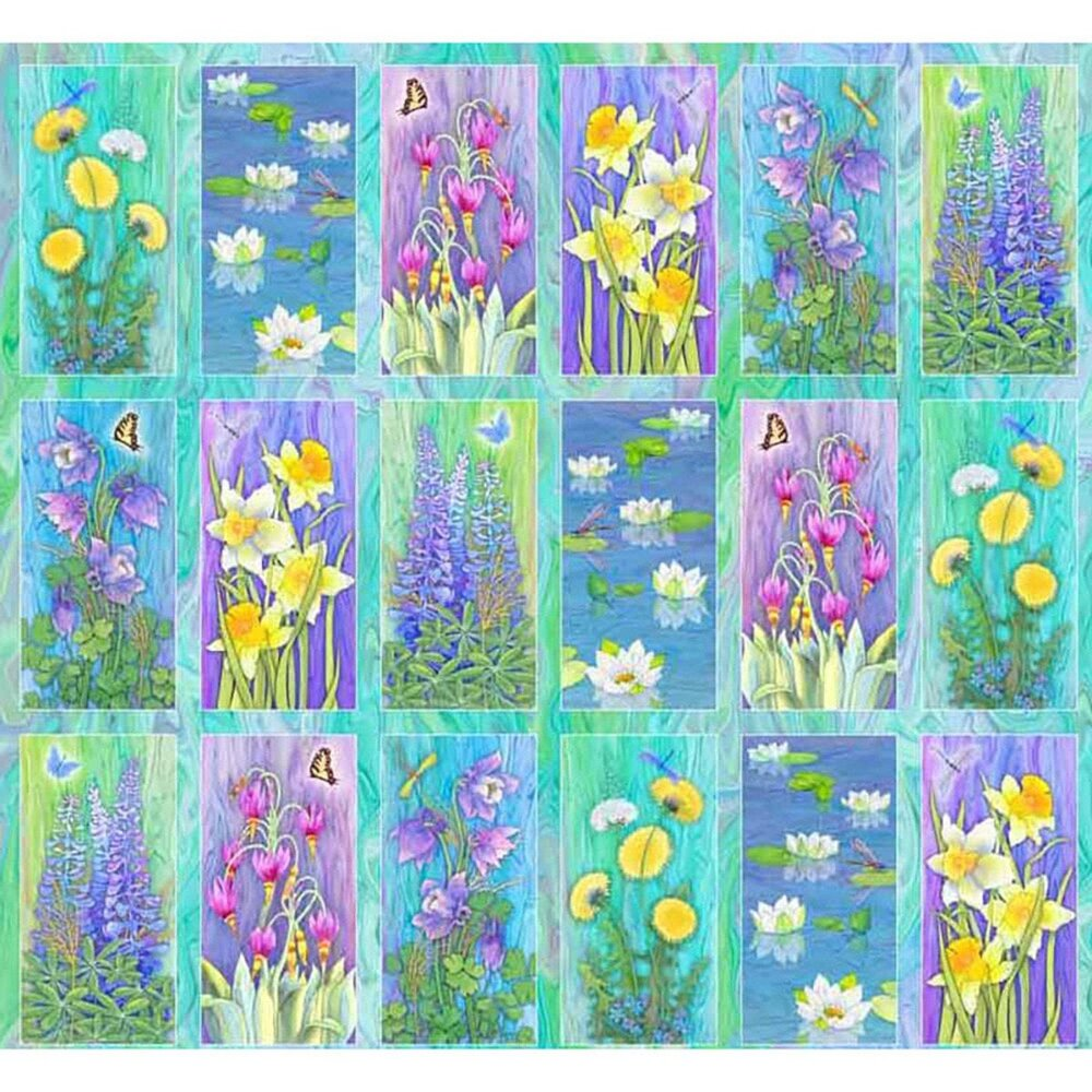 Nature's Garden Panel by Teresa Ascone for P and B Textiles