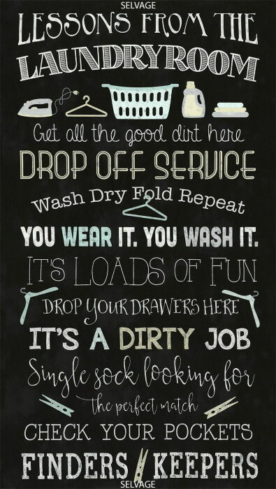 Laundry Room Lessons by Timeless Treasures