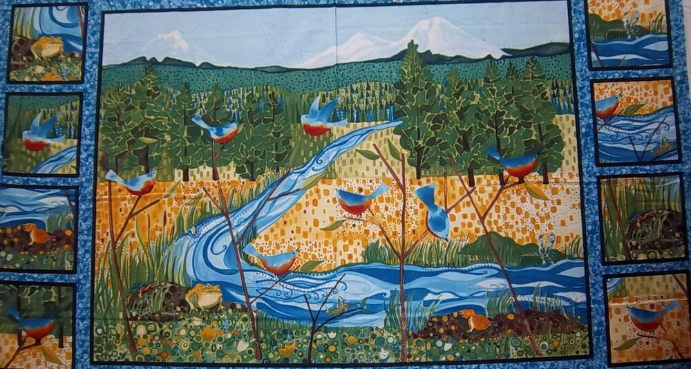 Nature's Symphony Quilt Panel by Kathy Deggendorfer from In the Beginning Fabrics