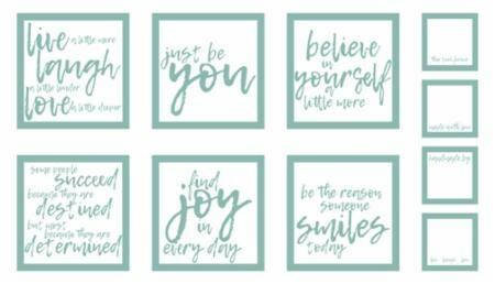 Thrive Saying Panel in Teal by Moda Fabrics