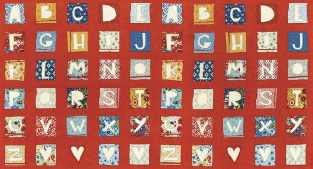 Biscuits and Gravy - Alphabet on Red - by MODA Fabrics