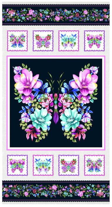 Sweet Perfume Flower Panel by Chelsea DesignWorks for Studio E Fabrics
