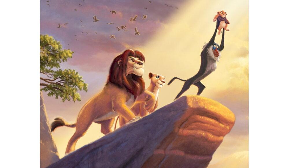 Disney Dreams Lion King Panel by Thomas Kinkaid by David Textiles