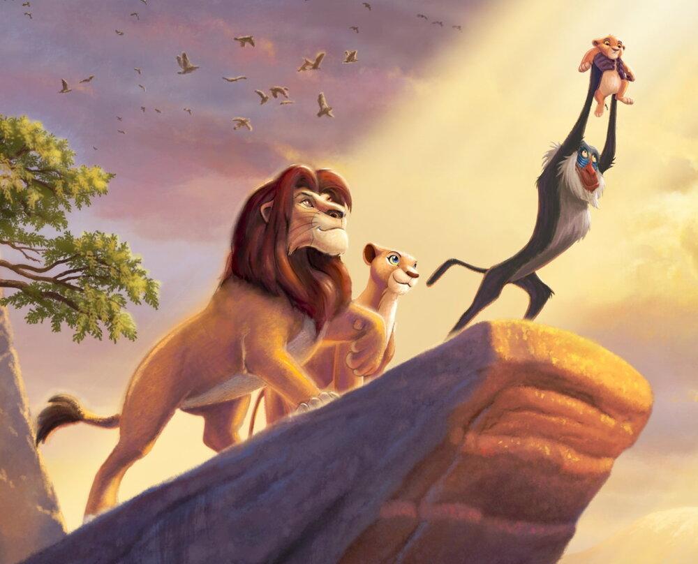 Disney Dreams Lion King Panel by Thomas Kinkade by David Textiles