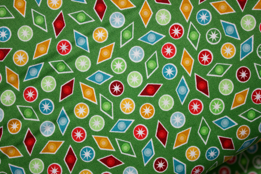 Christmas Cheer: Baubles on Green by Patrick Lose for Patrick Lose Fabrics