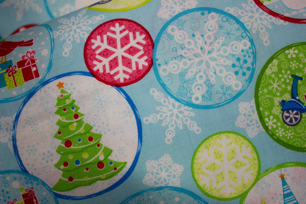 Christmas Mulberry Lane circles by Cherry Guidry for Contempo