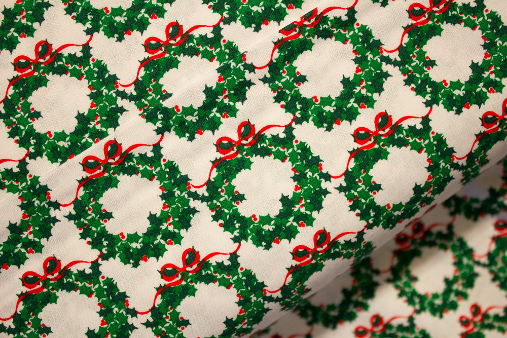 Packed Green Wreaths on White