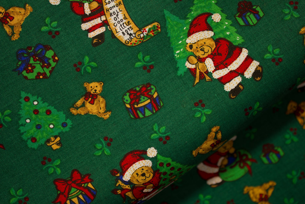 Season's Greetings - Santa Bears with Christmas Trees - by Concord House