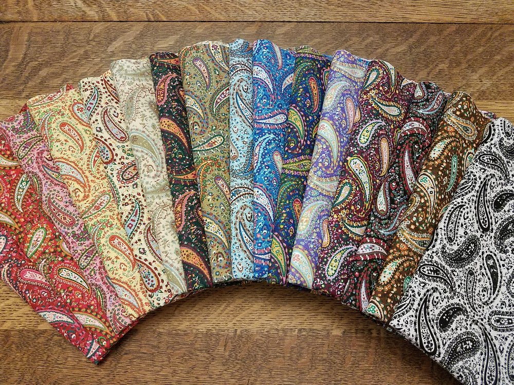 Classic Paisley - Rachael's Picks - 16 Piece Half Yard Bundle Pack