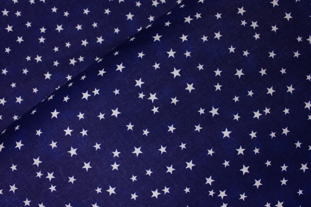 Navy Blue Slightly Mottled Background with White Random Stars: Patriotic