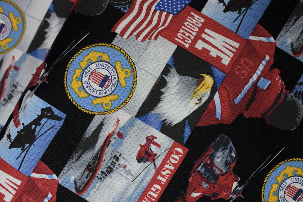 United States Coast Guard pictures in blocks:  Military Prints - Coast Guard A/O by Sykel Enterprises