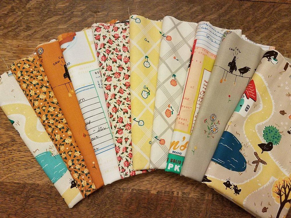 10 piece Calico Crow Thirties Prints by Penny Rose Fabrics - 10 Piece Half Yard Bundle Pack