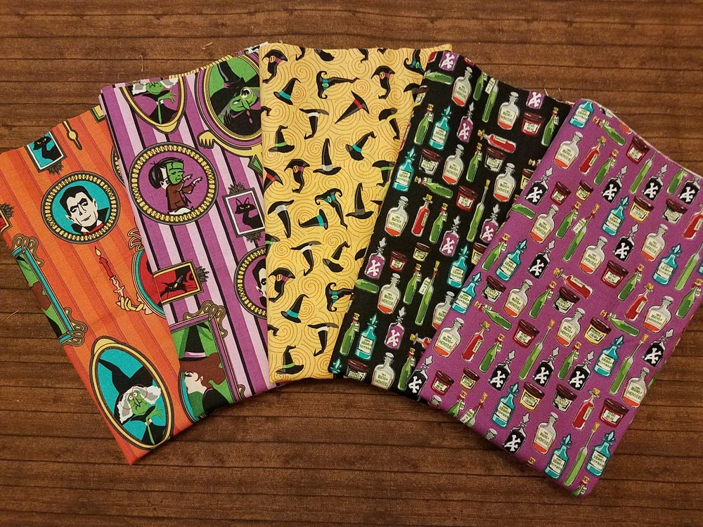 Haunted House by Carta Bella for Riley Blake - 5 Half Yard Pieces PLUS Panel