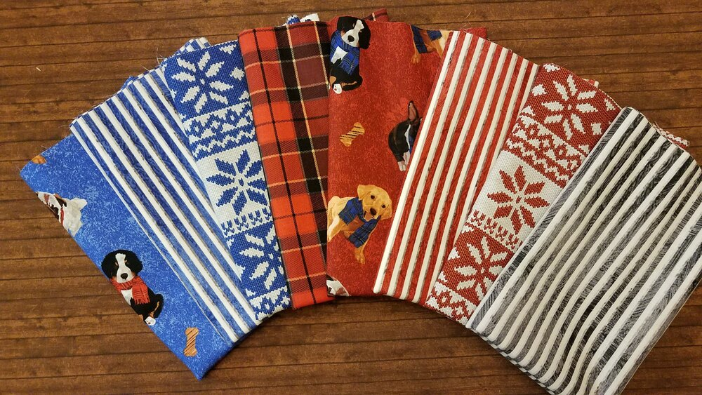 Ruff Life by Andover - 8 Piece Half Yard + Panel Bundle Pack