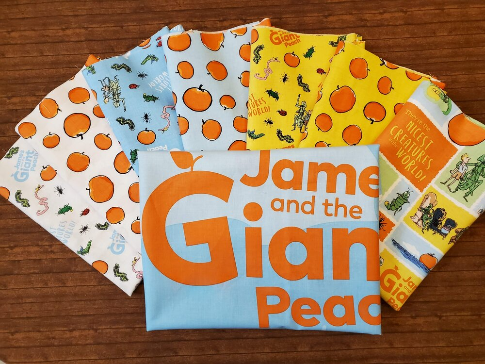 James and the Giant Peach - 7 Half Yard Pieces plus Panel Bundle Pack by Riley Blake