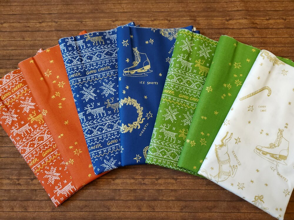 Good Cheer by Molly Hatch for Andover - 7 Piece Half Yard Bundle Pack