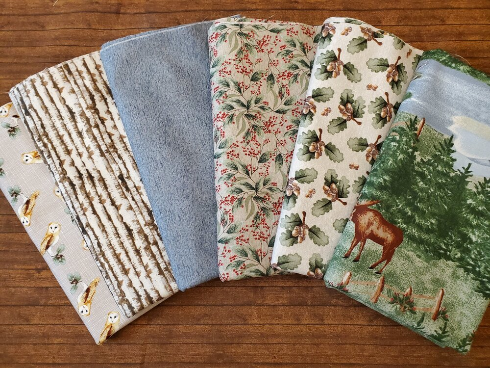 Lake Effects by Emma Leach for Blank Quilting - 6 Piece FULL Yard Bundle Pack