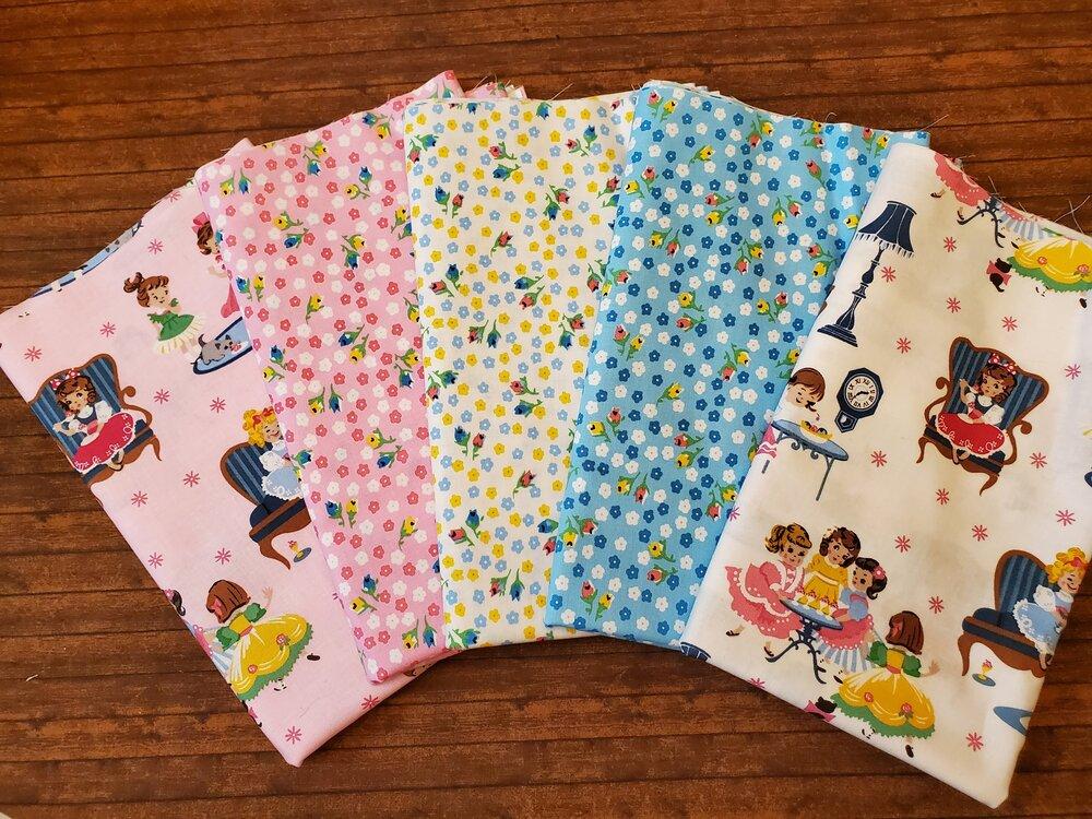 Petite Treat by Lindsay Wilkes for Penny Rose - 5 Piece Half Yard Bundle Pack