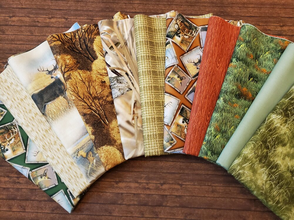 Deer Meadow by Quilting Treasures (and others) - 11 Piece Half Yard Bundle Pack