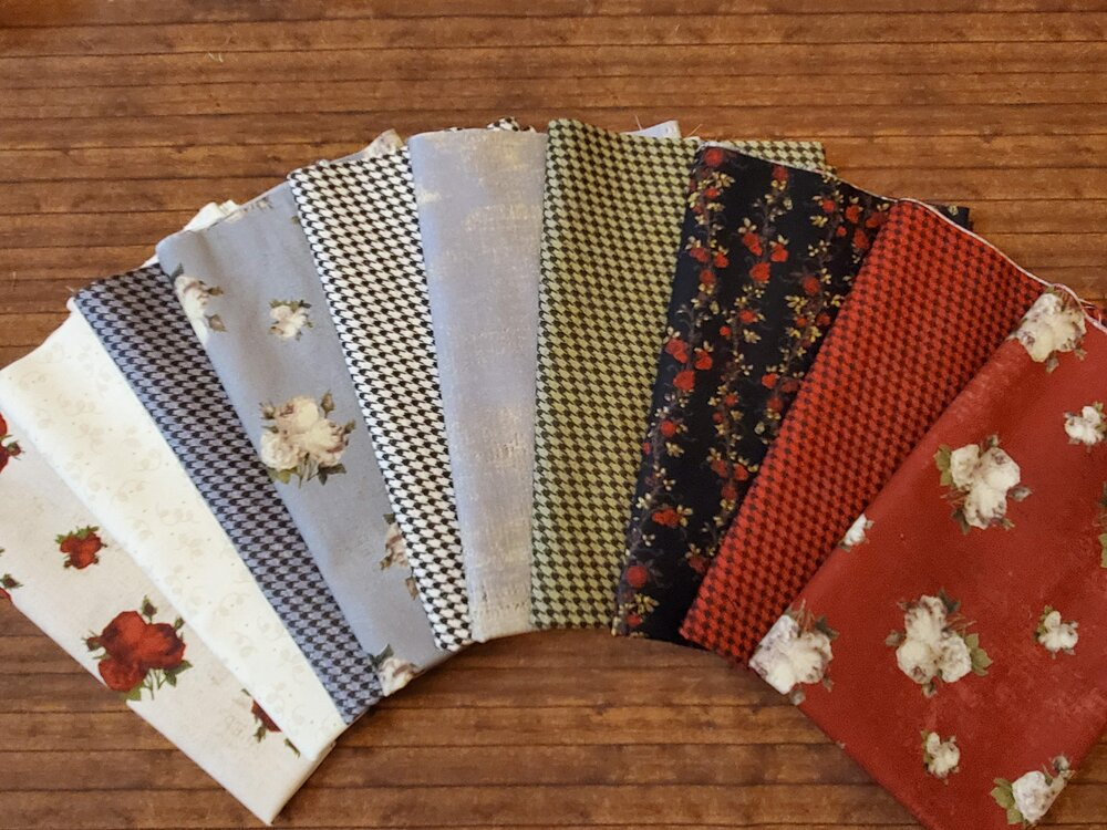 Everlasting Rose by Iron Orchid Designs for Clothworks - 10 Piece Half Yard Bundle Pack
