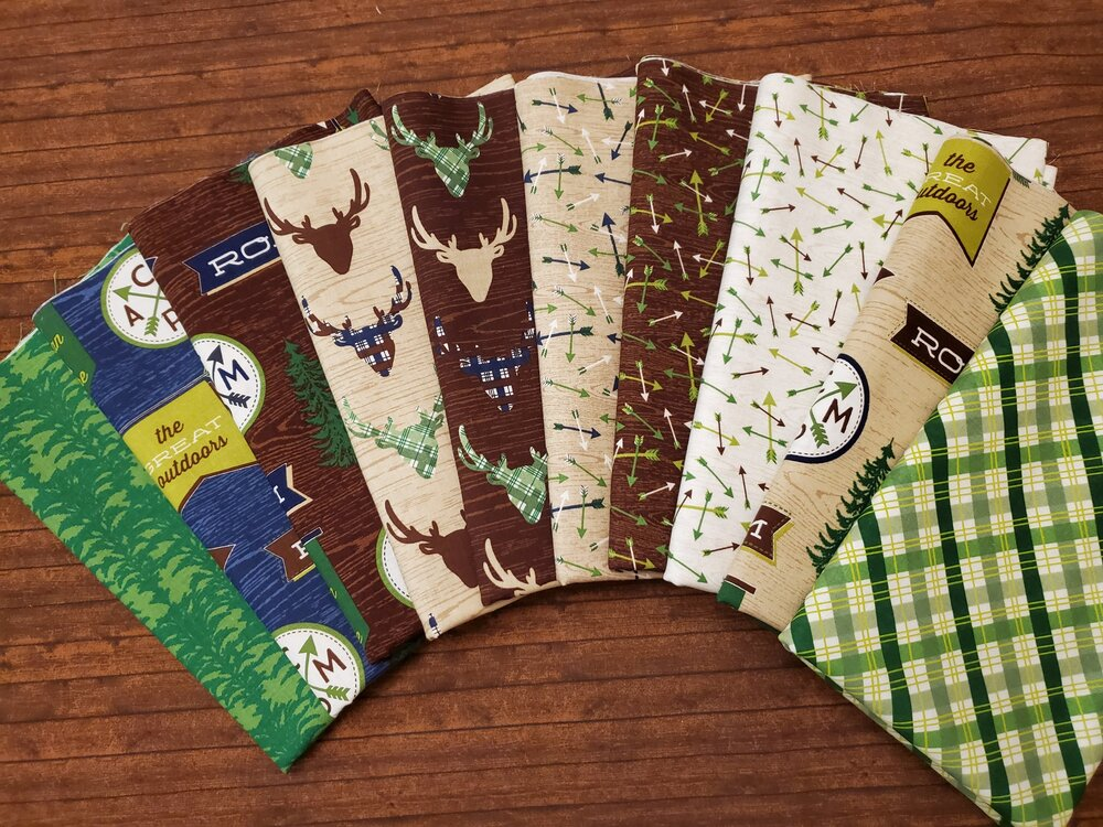 The Great Outdoors by Riley Blake Designs - 10 Piece Half Yard Bundle Pack