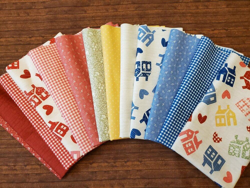 One Room Schoolhouse Thirties Collection by Washington Street Fabrics - 13 Piece Half Yard Bundle Pack + 3 Panels